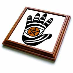 Pentacle Hand Pagan Witchcraft Tribal Wicca Symbol Trivet