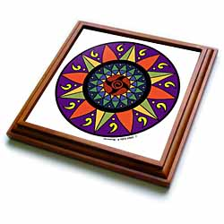 Hex Sign 2 Pennsylvania Dutch Luck Protection Symbol Trivet