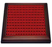 Black And Red Diamond Weave Geometric Pattern Textile Trivet