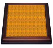 Autumn Splendor Abstract Tribal Textile  Trivet