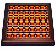 Fireball Stripe Abstract Pattern Geometric Textile Trivet
