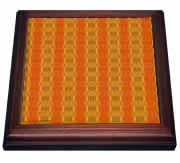 Flame Chains Abstract Pattern Geometric Textile Trivet