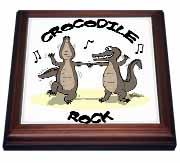 Out to Lunch Cartoon Crocodile Rock Trivet