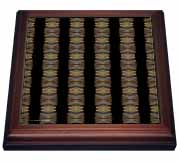 Agate Wave Stone Pattern Tribal Geometric Textile Trivet