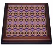 Golden Eye Tribal Retro Geometric Pattern Abstract Textile Trivet