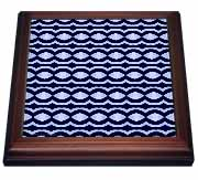 Skylight Tribal Retro Geometric Abtract Pattern Textile Trivet