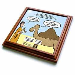 Mark 10-17-31 Stupid Animal Tricks - Camel through the Eye of a Needle Parable Trivet