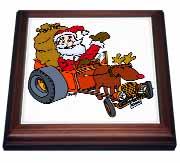Nelson Deweys Reindeer Powered Santa Dragster Sleigh Trivet