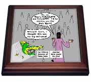 John 16 12 - 15 Jesus discusses sending paraclete which confuses a parakeet Trivet