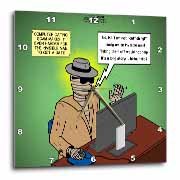 Invisible Man Internet Dating and Web Catfishing Wall Clock