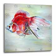 Fish Ryukin Goldfish Wall Clock