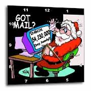 Ira Monroe about Santas E-Mail for Christmas Wall Clock