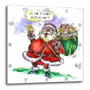 VAL Cartoon about Gift Card Giving for Christmas Wall Clock