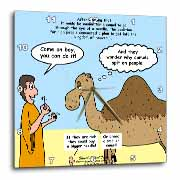 Mark 10-17-31 Stupid Animal Tricks - Camel through the Eye of a Needle Parable Wall Clock