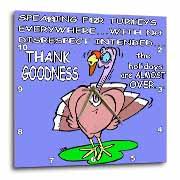 Ira Monroes Grateful Holiday Turkey Wall Clock