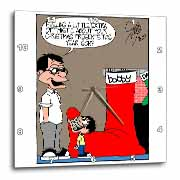 Sean Boley - Clever Child with very Large Christmas Stocking Wall Clock