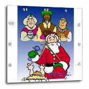 Larry Miller - Tribute to the Baby Jesus by the 3 Wisemen and Santa Wall Clock