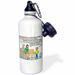 Ten Commandments 7 Stay Faithful to Spouse Water Bottle