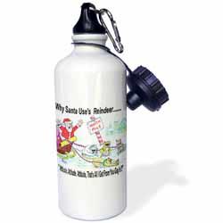 Kevin Edler, Why Santa Uses Reindeer  Water Bottle