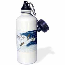 Salmon Spawning Advice Water Bottle