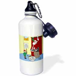 Dale Hunt - Santa Contributes to the Bad Economy Water Bottle