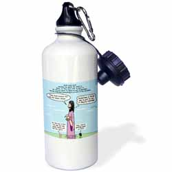 Mark 04-26-34 Jesus and the Beanstalk - Teaching Ad Lib Water Bottle