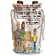 Ten Commandments 7 Stay Faithful to Spouse Wine Bag