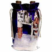 VAL - Santa Security Checkpoint Wine Bag