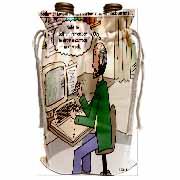 Pressures of Being a Cartoonist Wine Bag
