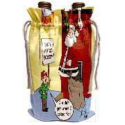 Dale Hunt - Santa Contributes to the Bad Economy Wine Bag