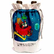 Nelson Dewey - Alien Craft Resembles Santas Sleigh Wine Bag