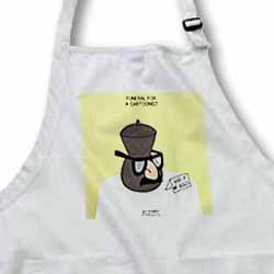 Funeral for a Cartoonist - Groucho Glasses on an Urn Apron