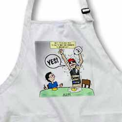 Indianapolis 500 Winner Breakfast Faux Pas aka Milk Accident Apron