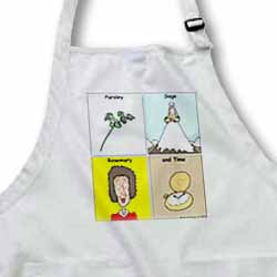 Parsley Sage Rosemary and Time Apron