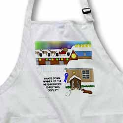 Simple Nativity Wins Neighborhood Christmas Display Contest Apron
