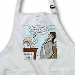 Heaven - St. Peter and the Golf Divot Replacement Sin of Omission Apron