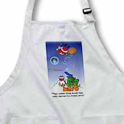 Larry Miller - Santa Takes Advantage of His Diving Lessons Apron