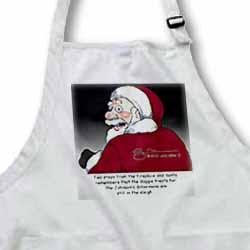 Larry Miller Santas Doberman Surprise Apron