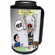 Indianapolis 500 Winner Breakfast Faux Pas aka Milk Accident Can Cooler Bottle Wrap