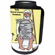 Early Bathroom Reading  Can Cooler Bottle Wrap