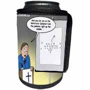 Pastor Telestrator Can Cooler Bottle Wrap