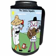 The Domino Republic Can Cooler Bottle Wrap