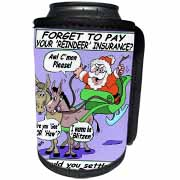 Ira Monroe - Santa and Mule Deer Can Cooler Bottle Wrap
