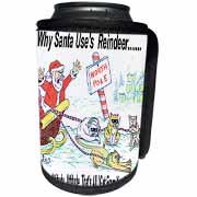 Kevin Edler, Why Santa Uses Reindeer  Can Cooler Bottle Wrap