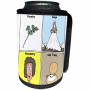 Parsley Sage Rosemary and Time Can Cooler Bottle Wrap