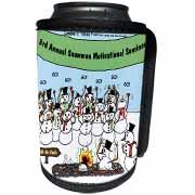 Snowman Motivational Seminar Can Cooler Bottle Wrap