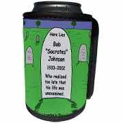 Unexamined Life Tombstone Can Cooler Bottle Wrap