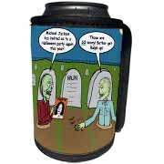 Halloween - Zombies are Invited to Michael Jacksons Party Can Cooler Bottle Wrap