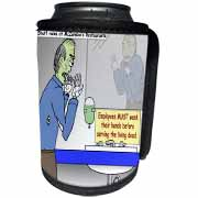 Halloween - Zombie Restaurant Warnings Can Cooler Bottle Wrap
