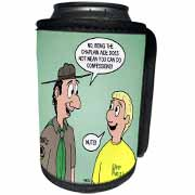 KNOTS cartoon - Scout confession and the chaplain aide Can Cooler Bottle Wrap